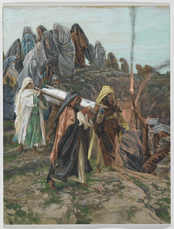 Carrying the body to the tomb