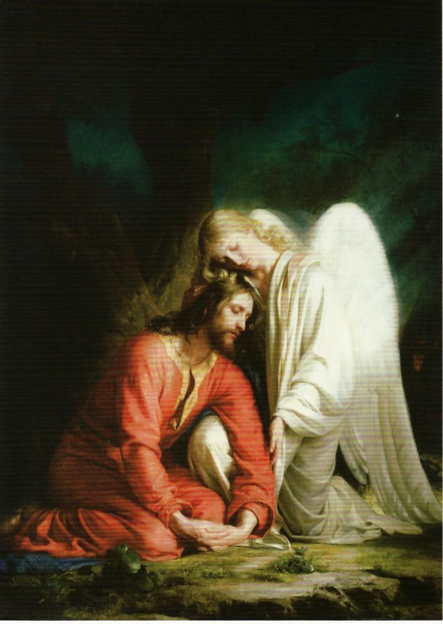Gethsemane with angel