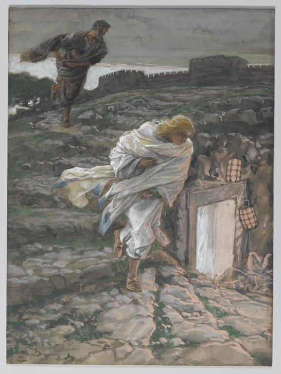 Peter and John run