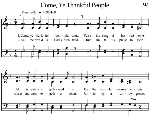 Come Ye Thankful People 1