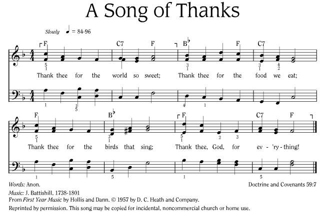 Song of Thanks