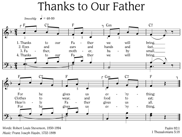 Thanks To Our Father